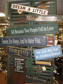 gifts - signs
